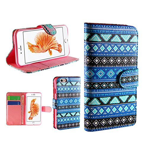 Preisvergleich Produktbild WYHYDCG 3pcs,PU Leder Flip Wallet Cover Ledertasche Multi-Function Protektiv Holster Card Slot Brieftasche Tasche Karteneinschub und Magnetverschluß Farbmalerei , iphone 7 , a