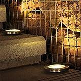 XYDM Solar Rasenlampe 3 LED Begrabenes Licht wasserdicht Draussen Garten Gartenlampen 5 Farben verfügbar 4 STÜCK, B