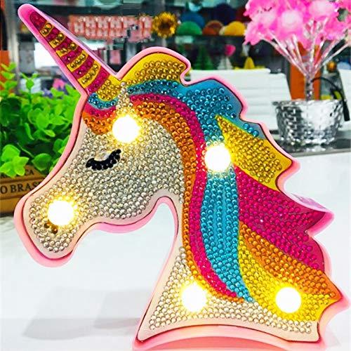 TROYSINC - Luz LED Decorativa para Pintar, diseño de Unicornio, para niños, Dormitorio o decoración Nocturna
