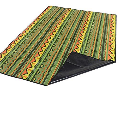 wysm Tampone impermeabile 200 * 150cm panno esterno di Oxford del panno impermeabile del tappeto del prato inglese ( Colore : Giallo ) Verde