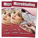 2 x Microblading Poster / Plakate DIN A1 Werbung für Kosmetik
