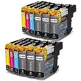 OfficeWorld Ersatz für Brother LC123 Druckerpatronen Hohe Kapazität Kompatibel für Brother MFC-J6520DW, DCP-J4110DW, MFC-J4410DW, MFC-J470DW, MFC-J870DW, DCP-J132W, MFC-J4510DW, DCP-J552DW