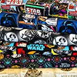 Visage Star Wars Stoffbündel – Star Wars – Bundle – VISFB28-6 Fat Quarters je 55 cm x 50 cm, 100% Baumwolle