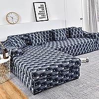 Housse de canapé d'angle Extensible Couverture de Canapé en Forme de L, pour canapé 1/2/3/4 places(Le Revêtement de…
