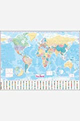 Collins World Wall Laminated Map Map