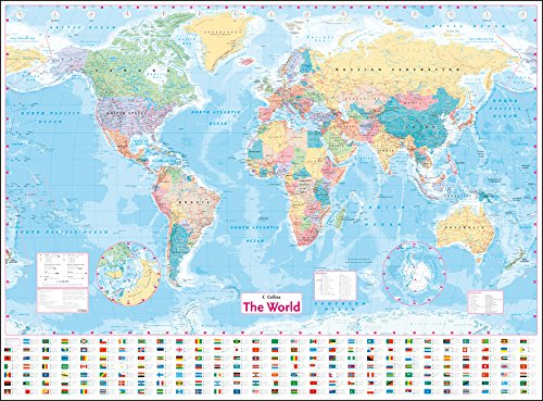 Collins World Wall Laminated Map por Collins Maps