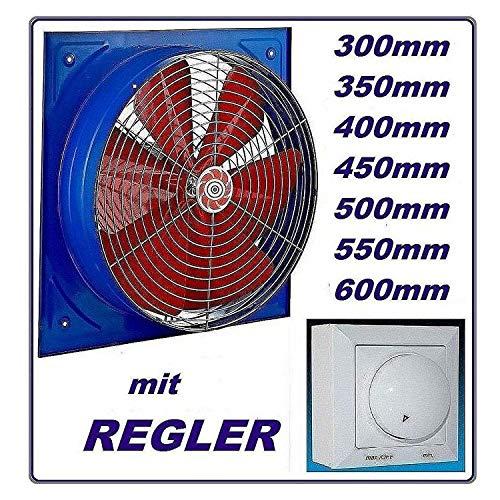 550 mm - Ventilador industrial con 600 W regulador de velocidad axial...
