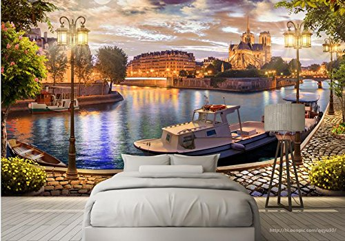 Yosot Europa 3D Tapete Murals Wände Wohnzimmer Tv-Kulisse Wand Dekor Schlafzimmer Bay Harbor Landschaft Vlies Wandbild Tapeten-450Cmx300Cm (Bay Harbor Vinyl)