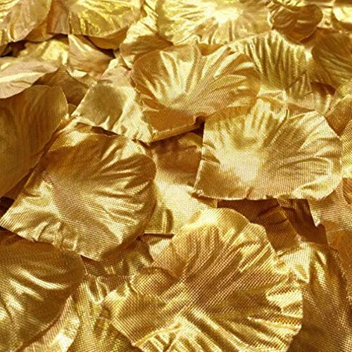 che Rosenblätter, TheBigThumb Gold Silk Rose Blütenblätter Hochzeit Tisch Konfetti Braut Party Dekoration Bridal Shower Favor Mittelstücke ()