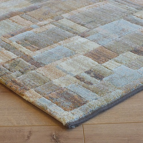 Galleria Rug 79244-4848 Abstract Beige, Cream, Terracotta, Multi 1.2m x 1.7m (4' x 5'6 approx)