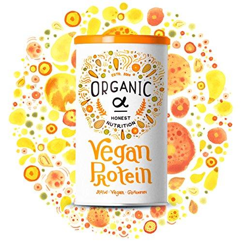 Veganes Proteinpulver von Organic Alpha mit Vanillegeschmack