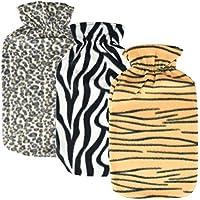 Asab Wärmflasche, gestrickt Weich Warm Kuschelig Touch groß passen 2Liter Kapazität Fläschchen Zebra Tiger Leopard... preisvergleich bei billige-tabletten.eu