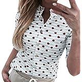 Xmiral T-Shirt Donna a Manica Corta con t-Shirt Casual #05308