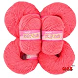 #10: Vardhman Acrylic Knitting Wool, Pack of 6 (Gajri) (Pack of 6)