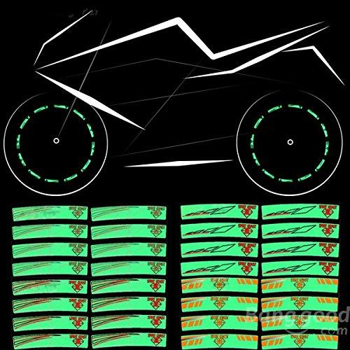 mark8shop Motorrad Rad Reifen Aufkleber wasserdicht reflektierende Rand gestreift (Gestreiften Rand)