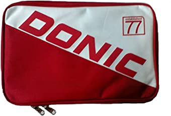Donic Single Bat Cover PRIME Table Tennis Cover - Red/White