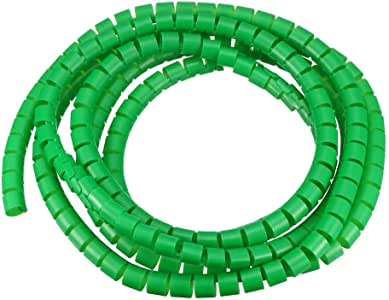 Spiral Tube Wrap Cable Management Sleeve 14mmx16mm 3 Meters Length Green