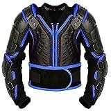 Kinder-Körper-Rüstung Motocross Motorrad Motorrad Schutz Jacke Motorrad Körper Schutz CER genehmigt - Bergradfahren ( Blau / Blue - S - Bis 6 Jahre alt )