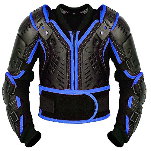PROFIRST Kinder-Körper-Rüstung Motocross Motorrad Motorrad Schutz Jacke Motorrad Körper Schutz CER genehmigt - Bergradfahren (Blau/Blue - M - Bis 8 Jahre alt) - Off-road Jacke Motorrad