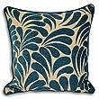 Riva Home Dubai Chenille Velvet Woven Cushion Cover, Teal, 55 x 55 Cm