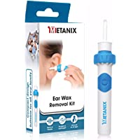 METANIX Ear Wax Remover - Compact Ear Cleaning Kit for Kids and Adults - Smart Earwax Remover Tools with 2 Replaceable Ear Tips