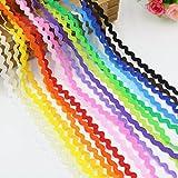 40m Bandlänge Zigzag Baumwolle 20Farben 2m von jeder
