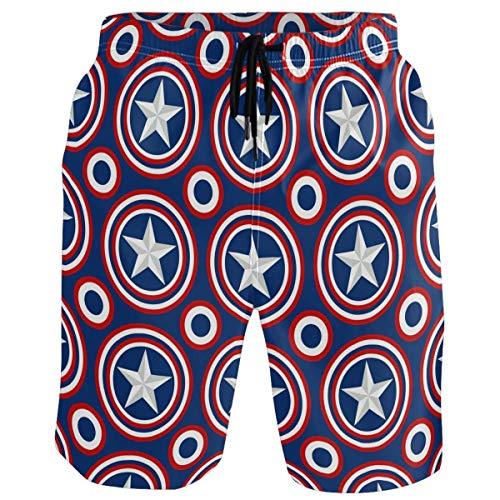 Klassische amerikanische Flagge Stern Kreis Muster Herren Badehose Sommer 3D Print Grafik lässig sportlich Schwimmen kurz