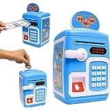 Toyshine Money Safe Kids with Finger Print Sensor Piggy Savings Bank with Electronic Lock, Blue