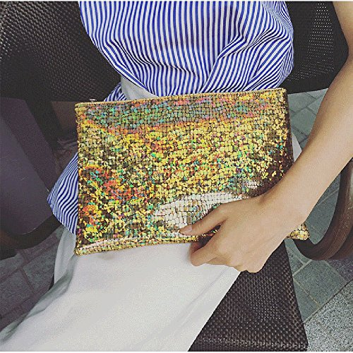 Der neue Stil ist einfach, mit einem Umschlag Tasche, silbrig Golden