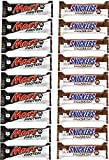 Mars & Snickers Protein Riegel Von Mars Proteinbar Eiweißriegel Eiweiß Whey (Snickers & Mars Mix Box  9x Mars & 9x Snickers)