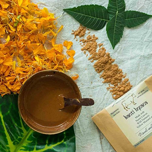 woods and petals Handmade Ayurvedic Panchgavya Ubtan ( Kanti Lepana ) I Skin Detox I Body Cleanser & Scrub I Anti Blemish I Rejuvenating I Natural I Chemical free