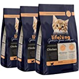 Marca Amazon Lifelong Alimento seco para gatitos con pllo fresco, receta sin cereales - 3kg *3
