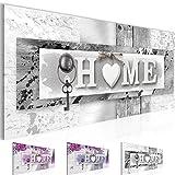 Bilder Home Wandbild Vlies - Leinwand Bild XXL Format Wandbilder Wohnzimmer Wohnung Deko Kunstdrucke Grau 1 Teilig -100% MADE IN GERMANY - Fertig zum Aufhängen 013712c