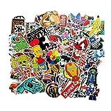Meloive Adesivi Impermeabili [100 pezzi] Vinile Decalcomania Graffiti Patches Stickers Per Portatili Macbook Skateboard Snowboard Valigia bagagli IPhone Auto Bici Moto e altro (autoadesivo)