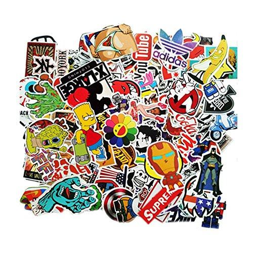 Meloive Pegatinas Resistentes Al Agua [100 un] Variedad de Calcomanías de Grafiti, Parches Ideales para Laptop Macbook Tablas de Skate, Equipaje, Valijas, Coches, Bicicletas y Más(Autoadhesivo)