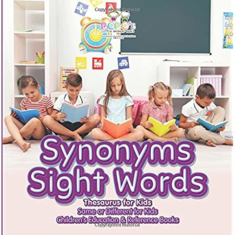 Synonyms Sight Words - Thesaurus for Kids - Same or Different for Kids - Children's Education & Reference