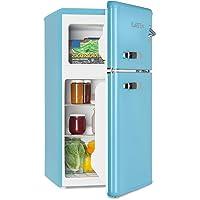 KLARSTEIN Irene - Combiné réfrigérateur congélateur, Rétro, Puissance de refroidissement réglable : 0 à 10 °C et…