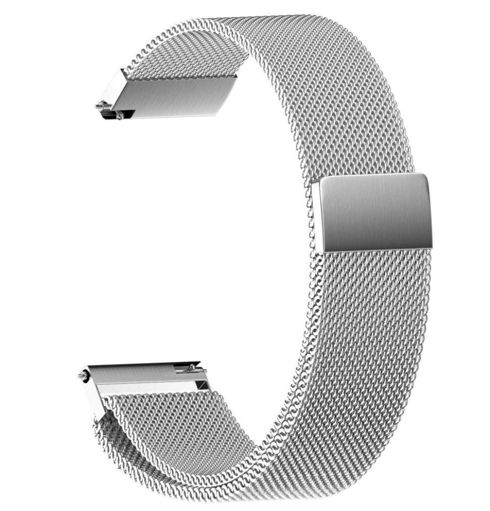 JiaMeng para Cintas magnéticas milanesas, Moda de Acero Inoxidable Correa de Reloj Repuesto de la Correa de Reloj del Acero Inoxidable del Lazo 22/20/18/16 / 14MM