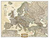 **Europe Political Antique Executive75 Cm X 60 Cm: NG.PC620326 (National Geographic Reference Map)