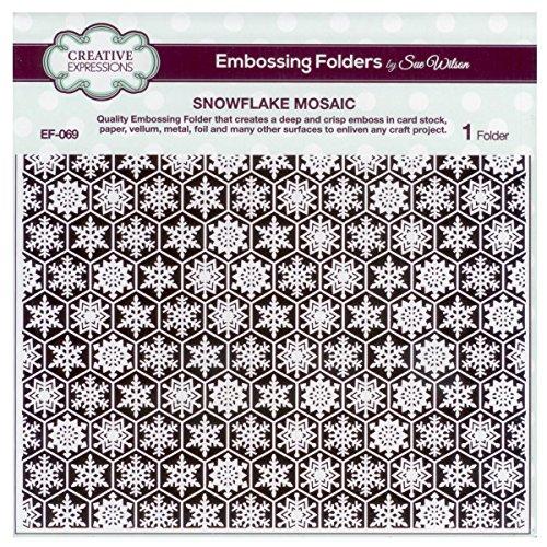 Sue Wilson EF-069 Embossing Folder 8 x 8 - Snowflake Mosaic