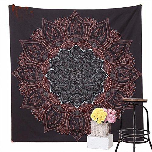 Arazzo psichedelico hippie boemia mandala decorazioni da parete tenda picnic coperta spiaggia(145 * 145 cm) lad-i