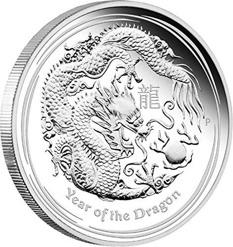 DRAGON Lunar Year Series II 5 Oz Silver Proof Coin 8$ Australia 2012 Münze (Silber Münzen 5 Oz)