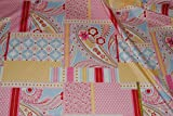 1 m * 1,4 m Patchwork Stoff Baumwolle hell rosa pink -