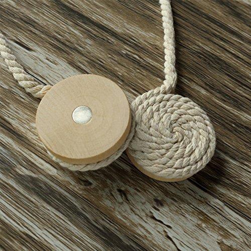 Ganquer - Cortinas Cuerda algodón Cierre magnético