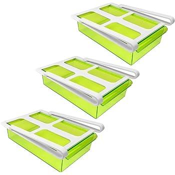 Klemm-Schublade für Kühlschrank 3er-Set transparent
