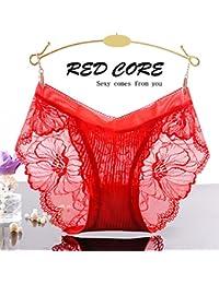 RangYR Sexy ropa interior femenina de encaje de baja altura, transparente, temperatura de la