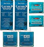 M&H-24 Kalt-Warm-Kompresse Kühlkompresse Mehrfachkompressen in 3 verschiedenen Größen Mikrowellen geeignet (2x Klein, 2x Mittel, 2x Groß)