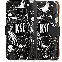 Samsung Galaxy S8 Plus Tasche Leder Flip Case Hülle Karlsruher SC Merchandise Fanartikel KSC