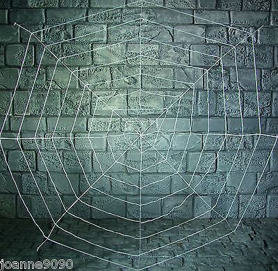 1.8 M spider web glow in the dark, schwarz, Halloween (The Glow Dekoration In Halloween Dark)
