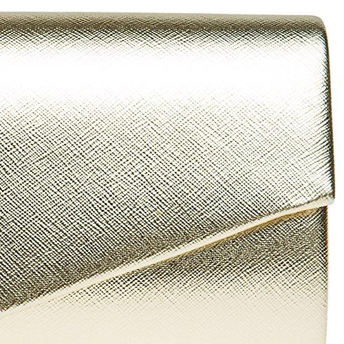 CASPAR TA420 Donna Pochette a Busta Elegante Metallizzata Oro